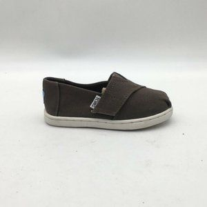 Toms Boys Classic Slip On Olive  Sneakers Shoes 7